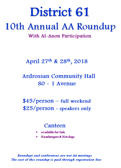 District 61 Annual AA Roundup