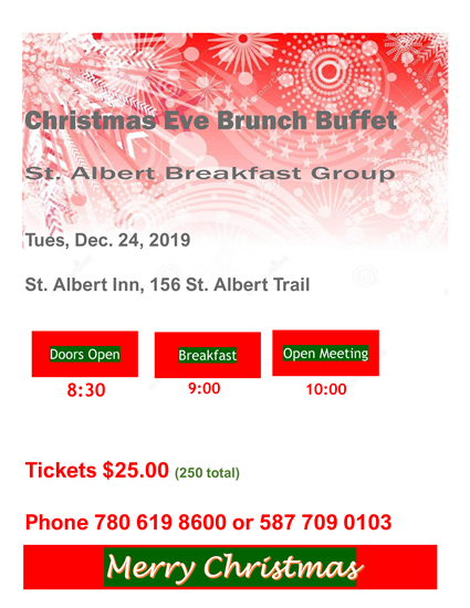 St Albert Xmas Eve